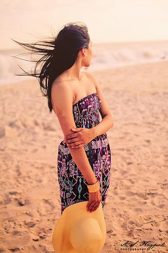 Maxi Dress on the Beach
