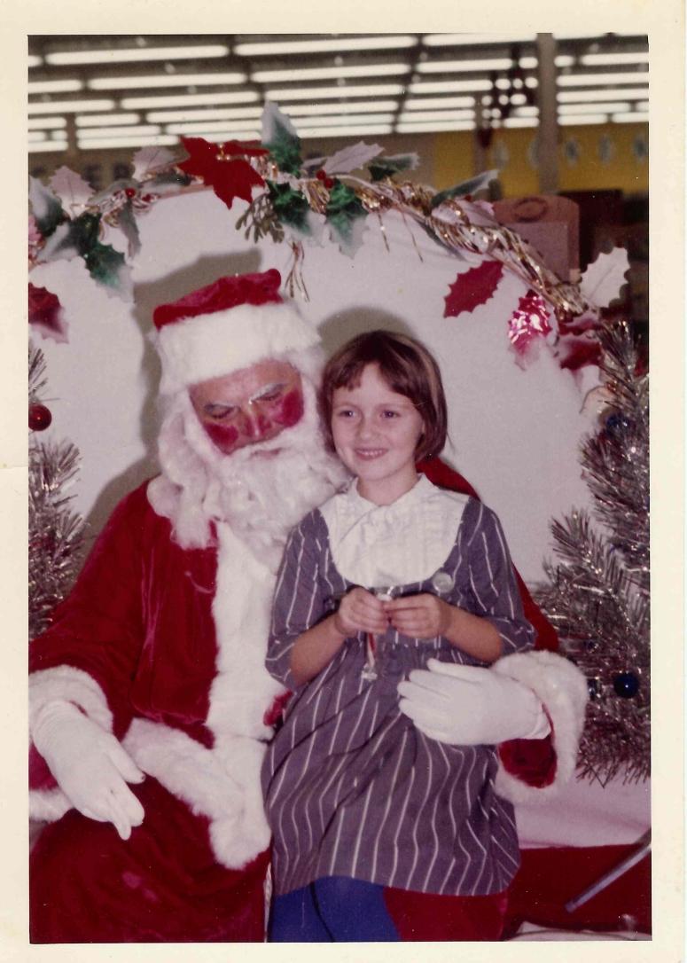 Michelle & Santa Circa 1965ish